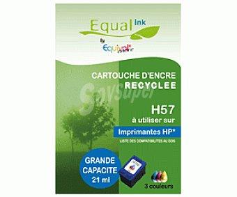 Equalink Cartuchos Reciclados de Tinta H57 Tricolor 1u