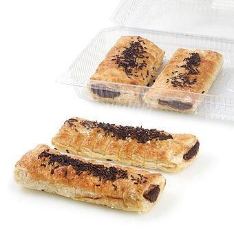 Carrefour Cañas de hojaldre con crema de cacao 4 ud