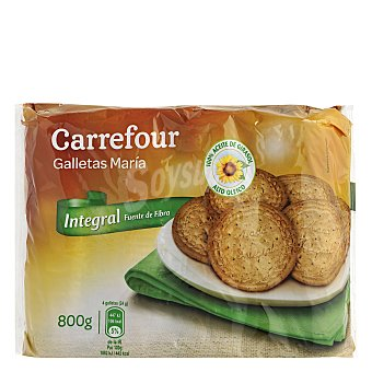 Carrefour Galleta María integral 800 g