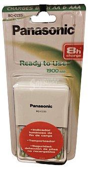 Panasonic Pila cargador (+4 pilas recargables aa P6) 1 pack 4 pilas + cargador