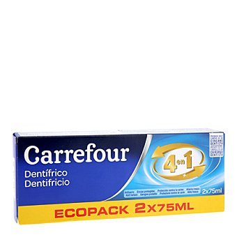 Carrefour Pasta de dientes Pack 2x75 ml
