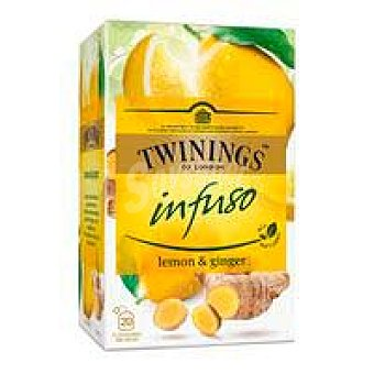 Twinings Infusión lemon&ginger twinings, caja 20 uds Caja 20 uds