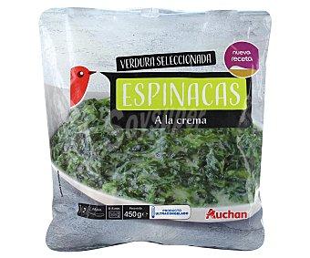 Auchan Bolsa de espinacas a la crema 450 gr