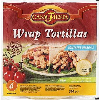 Casa Fiesta Tortillas con omega 6 wrap (370 g)