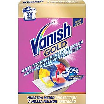 Vanish Gold toaliitas anti-transferencia de color caja  32 unidades