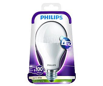 Philips Bombilla Led esférica 15W, casquillo E27 (grueso), Luz cálida 1 unidad