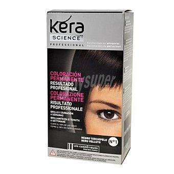Les Cosmétiques Coloración Permanente Nº 1 Negro Terciopelo - Kera Science 1 ud
