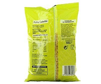 Productos Económicos Alcampo Fideos Cabellines pasta de sémola de trigo duro de calidad superior 500 Gramos