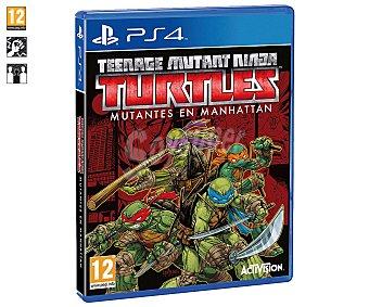 Acción Videojuego Tortugas Ninja, Mutantes en Manhattan para Playstation 4. Género: acción, súper héroes. Recomendación por edad pegi: +12