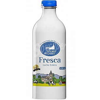 Señorio de Sarria Leche entera fresca Botella 15 l