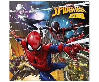 Spiderman Marvel Calendario 2018 con medidas de 30x30 centímetros de SPIDERMAN.