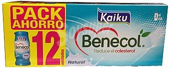 KAIKU Yogur liquido benecol natural (Reduce colesterol) 12 botellines de 65 g