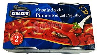 Cidacos Pimiento piquillo ensalada ( pimiento y cebolla ) conserva Bote pack 2