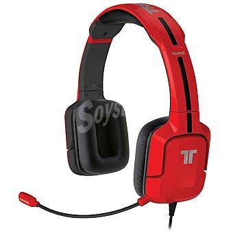 TRITTON KUNAI Auriculares + micrófono con cable en color rojo para PS3/PS4 1 unidad