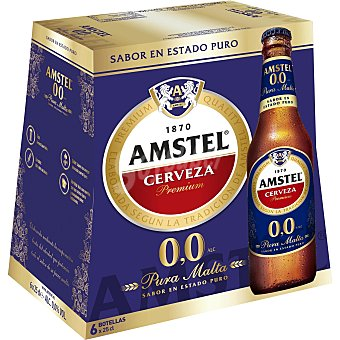Amstel Cerveza sin alcohol Pack 6x25 cl