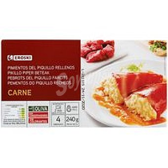 Eroski Pimientos de piquillo rellenos de carne Lata 240 g