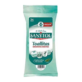 Sanytol Toallitas limpiadoras y desinfectantes Paquete 24 uds