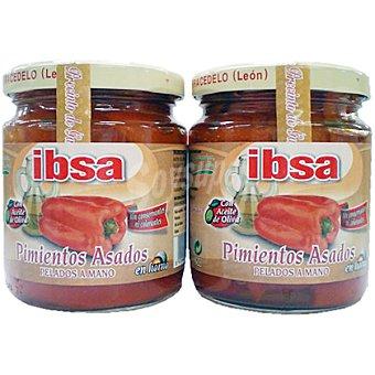 Ibsa Pimientos del Bierzo asados en aceite de oliva pelados a mano Pack 2 frasco 440 g