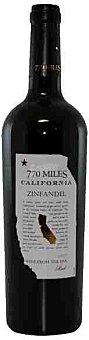 770 MILES Vino tinto de California Zinfandel Botella de 75 Centilítros
