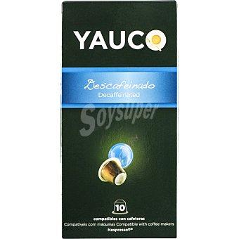 Yauco Café descafeinado ápsulas compatible con máquinas Nespresso estuche 50 g 10 c