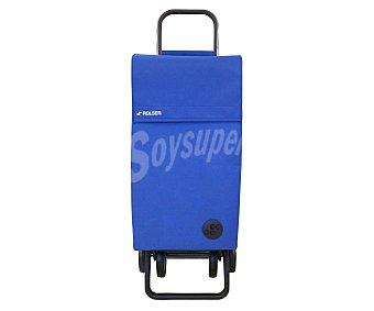 ROLSER Carrito para la compra plegable modelo Paris Mf, de color azul y con 4 ruedas 1 Unidad
