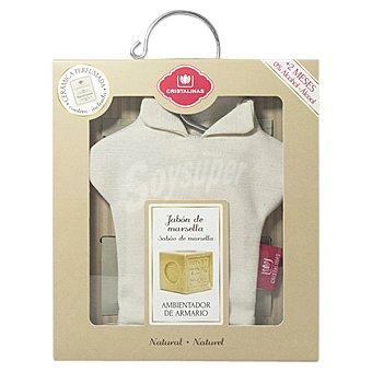CRISTALINAS Percha Ambientador de armario con un recambio Jabón de Marsella