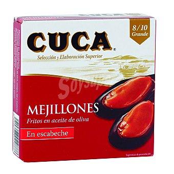 Cuca Mejillones en escabeche 6-8 piezas Lata 69 g neto escurrido