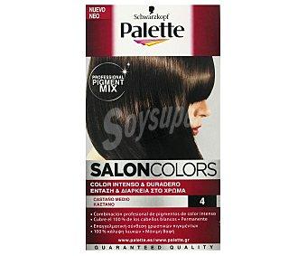 Palette Schwarzkopf Tinte Castaño 4 Salon Colors 1 Unidad