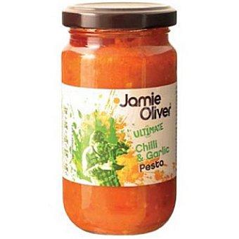 JAMIE OLIVER Salsa pesto con ajo y chili Frasco 350 g