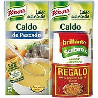 PESCADO Caldo +Arroz Knorr 2x1l