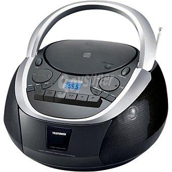 Telefunken TCP101 Radio digital portátil con CD, MP3, Cassette y USB en color negro