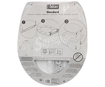 Tatay Tapa para WC standar de color blanco 1 Unidad