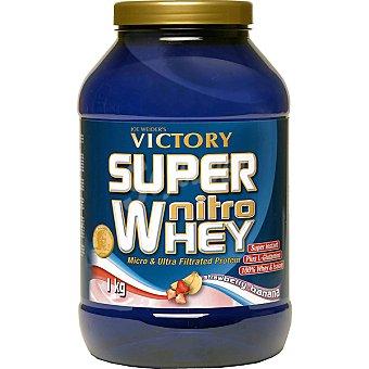 Victory Super Nitro Whey proteína de suero sabor fresa y plátano Envase 1 kg