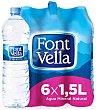 Agua mineral natural Pack 6 botella x 1,5 l  Font Vella