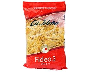 La Isleña Fideos nº 3, pasta de sémola de trigo duro de calidad superior 250 Gramos