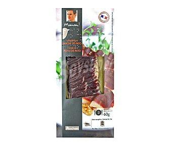 Mmm Auchan Lonchas de jamón de pato curado 60 gramos