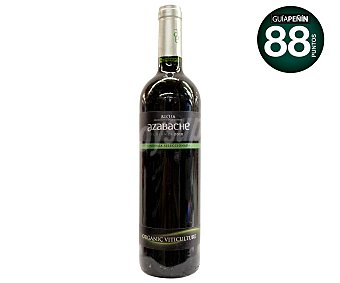 AZABACHE Vino tinto ecológico, crianza con denominación de oriegen Rioja Botella de 75 centilitros