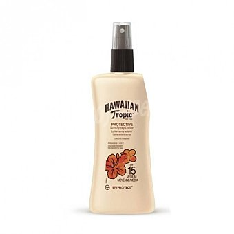 Hawaiian Tropic Protector solar en spray con factor de protección 15 (medio) Spray 200 ml