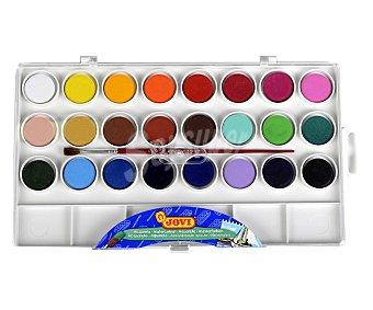 Jovi Caja de 24 acuarelas de diferentes colores + pincel jovi