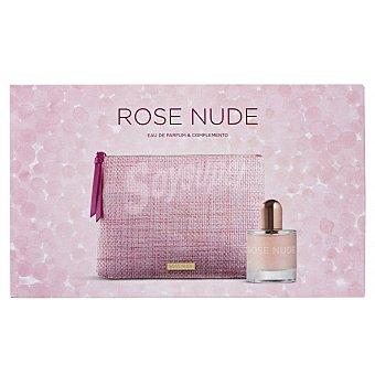 Rose Nude Lote mujer eau toilette vaporizador 75 ml + neceser rafia 1 ud