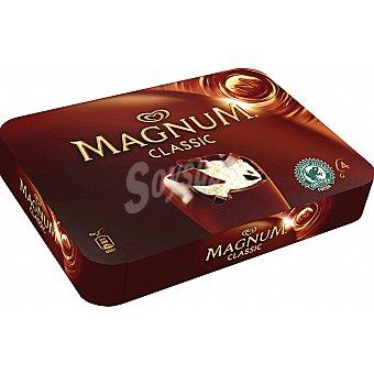 Magnum Frigo Helado de nata con suave chocolate con leche Classic estuche 440 ml 4 unidades
