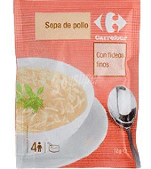 Carrefour Sopa de pollo deshidratado con fideos finos 72 g
