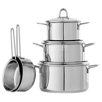 Linkfair Batería cocina de acero inoxidable 5 piezas