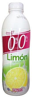 HACENDADO Yogur líquido desnatado limón Botella de 1 L