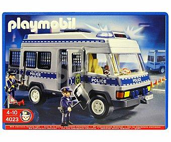 PLAYMOBIL Playset City Action Furgón de Policía, Modelo 4023 1 Unidad