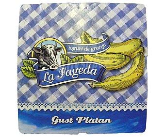 La Fageda Yogur de plátano Pack 4x125 g