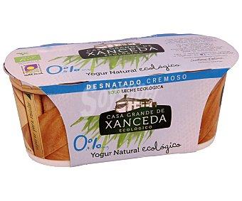 Casa Grande de Xanceda Yogur cremoso desnatado natural Pack 2 x 125 g