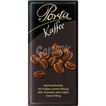 Porta Chocolate con leche con relleno de café 100 g
