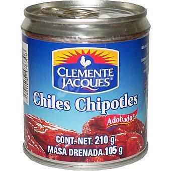 CLEMENTE JACQUES Chiles chipotles adobados Lata 105 g neto escurrido