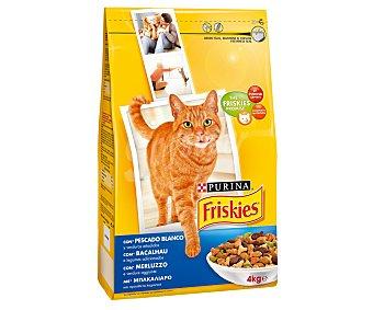 Friskies Purina Alimento seco para gatos adultos 4 kg